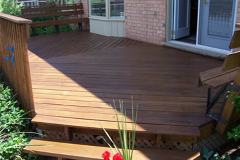Deck Staining Job in Oakville