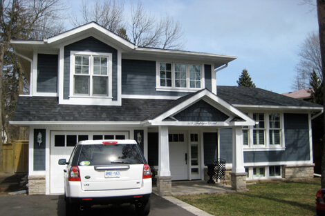 Exterior painting job oakville