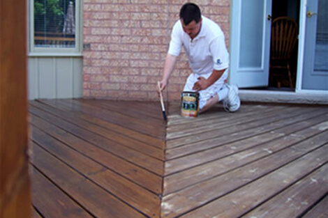 Deck Painting in Oakville