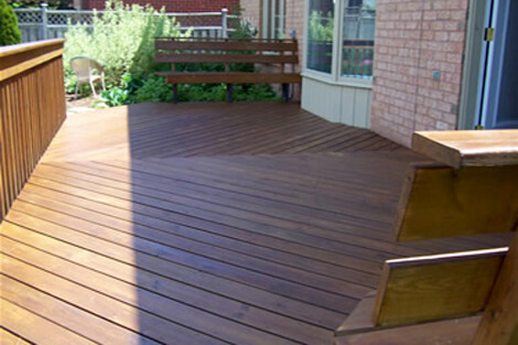 Deck staining 1