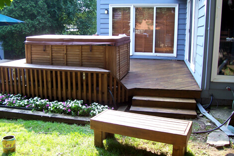 Finished Job Painted Deck